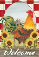Sunflower Farm House Flag