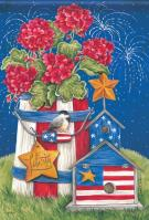 Patriotic Garden House Flag