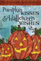 Pumpkin Kisses House Flag