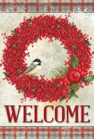 Winterberry Welcome House Flag