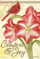 Christmas Amaryllis House Flag
