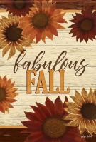 Fabulous Fall Floral House Flag