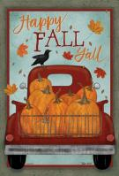 Happy Fall Y\'all House Flag