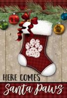 Santa Paws House Flag