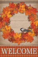 Autumn Wreath House Flag