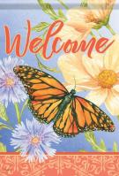 Misty Meadow Butterfly House Flag