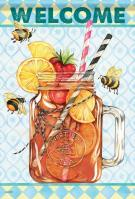 Sweet Tea Bee House Flag