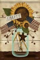 Liberty Mason Jar House Flag