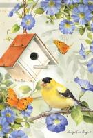 Goldfinch Birdsong House Flag