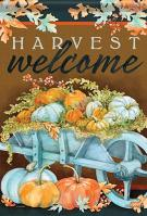 Harvest Wheelbarrow House Flag