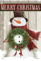 Merry Snowman House Flag