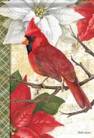 Christmas Cardinal House Flag
