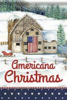 Americana Christmas House Flag