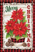Buffalo Plaid Christmas House Flag