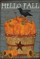 Pumpkin Basket House Flag
