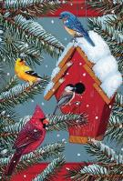 Seasonal Songbirds House Flag
