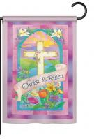Christ is Risen Garden Flag