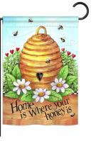 Bee Hive Home Garden Flag