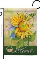Sunflower With Hummingbird Garden Flag