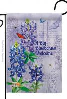 Bluebonnet Welcome Garden Flag