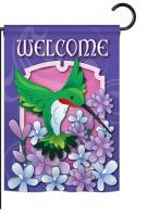 Welcome Hummingbird Garden Flag