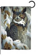Great Horned Owl Garden Flag