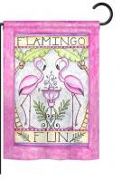 Flamingo Fun Garden Flag