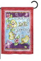 Swing Into Spring Garden Flag
