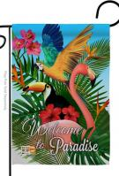 Tropical Bird Paradise Garden Flag