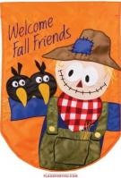 Scarecrow & Friends Applique House Flag