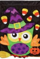 Trick Or Treat Applique Garden Flag