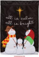All Is Bright Applique Garden Flag