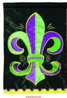 Fleur De Lis Single Applique Garden Flag