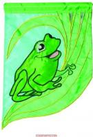 Frog Single Applique Garden Flag