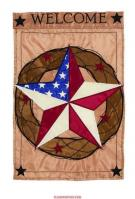 Barnstar Welcome Single Applique Garden Flag