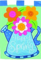 Happy Spring Double Applique Garden Flag