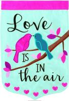 Love Is In The Air Double Applique Garden Flag