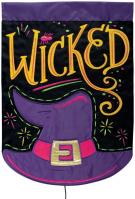 Wicked Double Applique Garden Flag