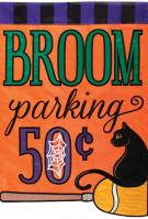 Broom Parking Applique Garden Flag