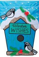 Winter Wishes Double Applique Garden Flag