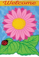 Bright Gerbera Double Applique Garden Flag