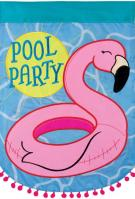 Pool Party Double Applique Garden Flag