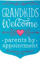 Parents By Appointment Double Applique Garden Flag