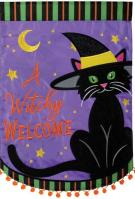 A Witchy Welcome Double Applique Garden Flag
