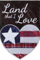 Land I Love Double Applique Garden Flag