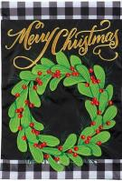 Farmhouse Christmas Double Applique Garden Flag