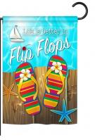 Better in Flip Flops Garden Flag