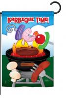 Barbeque Time Garden Flag