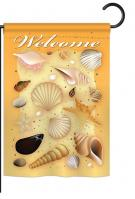 Welcome Shells Garden Flag
