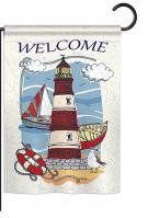 Lighthouse Shore Garden Flag